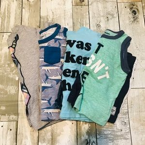 Set of 4 Toddler Boy Summer Outfits